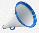 A single megaphone